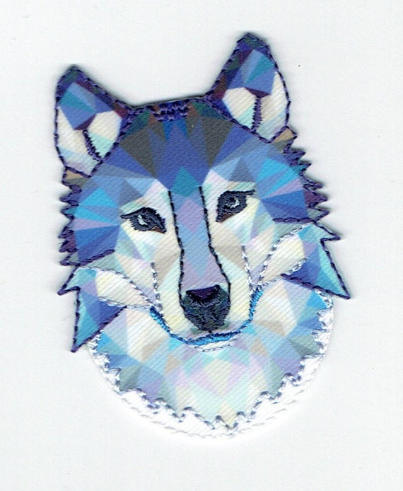 "Patch fusible trend pattern ""Wolf"""