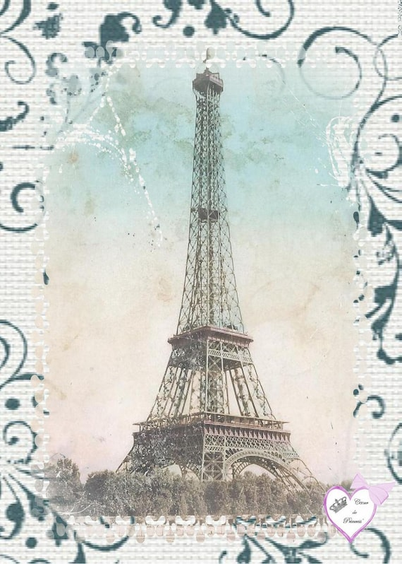 "Applied in cotton twill ""tour eiffel"""