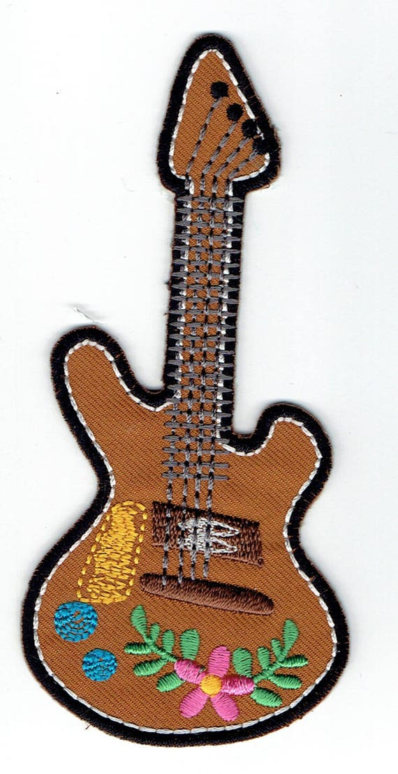 """Patch fusible trend pattern """"Guitar"""""""