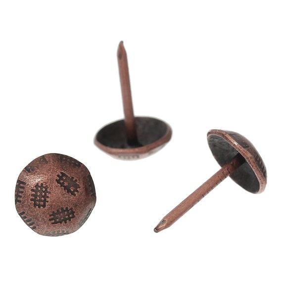 20 nails upholsterer - copper color - size: 91 x 11 mm
