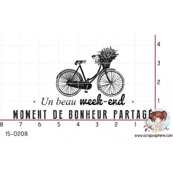 """Pattern """"bike"""" rubber stamp mounted on foam"""