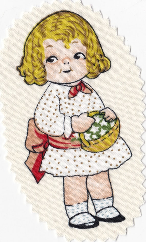 Applied fusible - gardening doll.