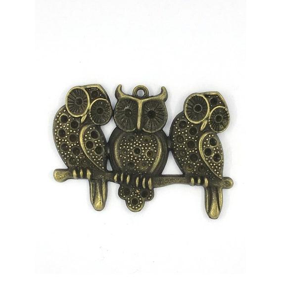 "Great charm - bronze ""Owls"""