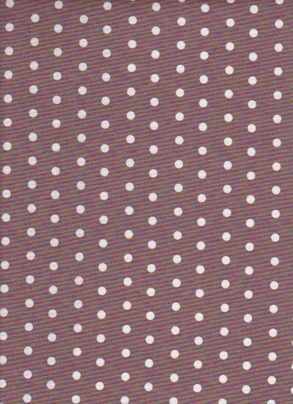 Polka dots coated cotton taupe color, coupon 50 x 50 cm