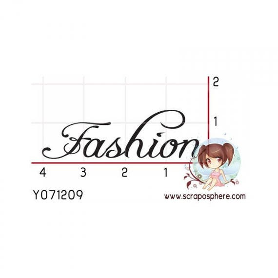 """SCR52 rubber stamp to """"fashion"""" pattern"""