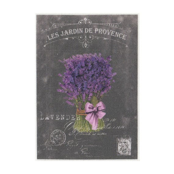 "Applied fusible - Collection ""Lavender background chalk"" AT404-1"
