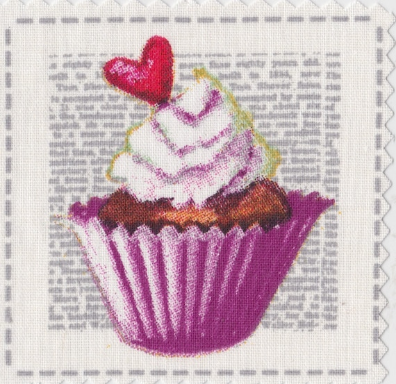Cup cake 5 - applied fusible to fix to iron