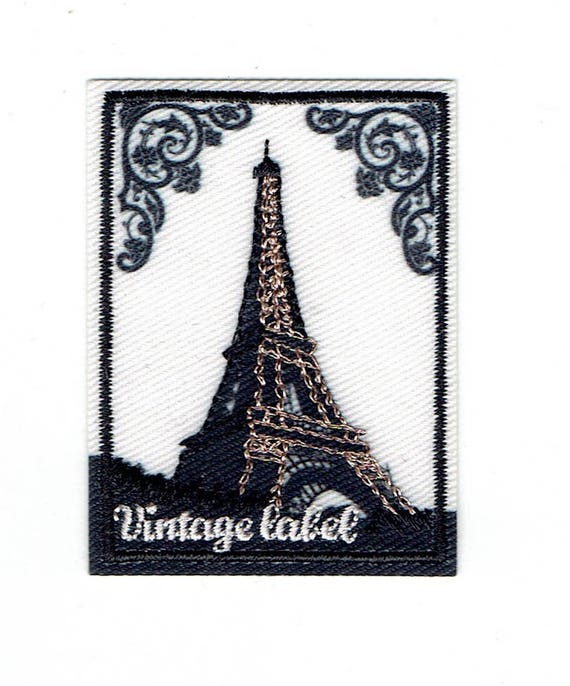 "Patch fusible trend ""Eiffel Tower"""