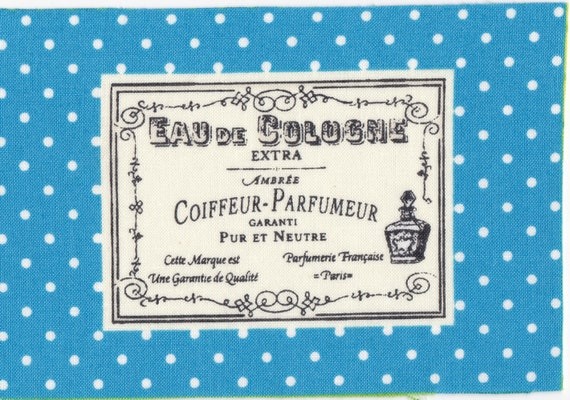 "Applied fusible cotton polka dot pattern ""eau de cologne"""