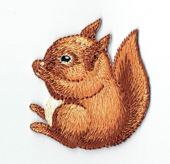 "Patch fusible trend pattern ""squirrel"""