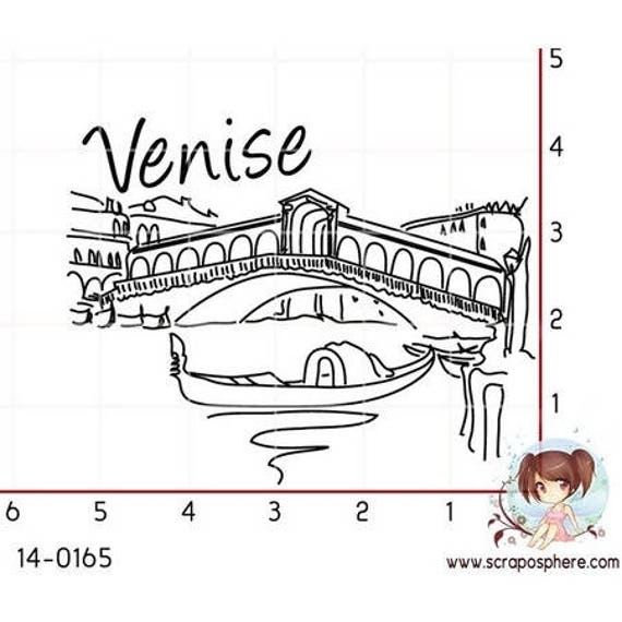 "SCR130 rubber stamp to assemble pattern ""Venice"""