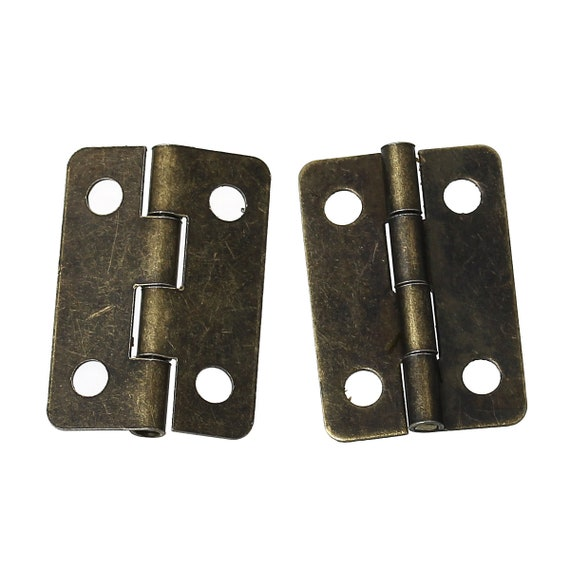 Set of 6 hinges - bronze - size: 22 mm