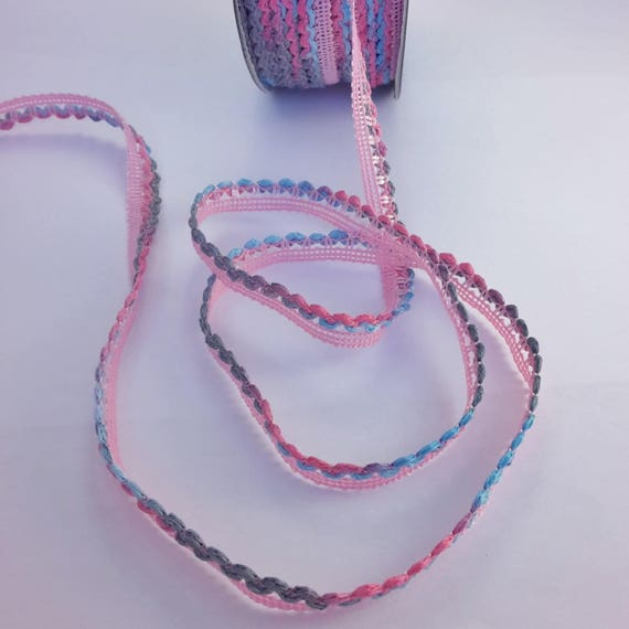 Multicolored fancy pink and Blue Ribbon