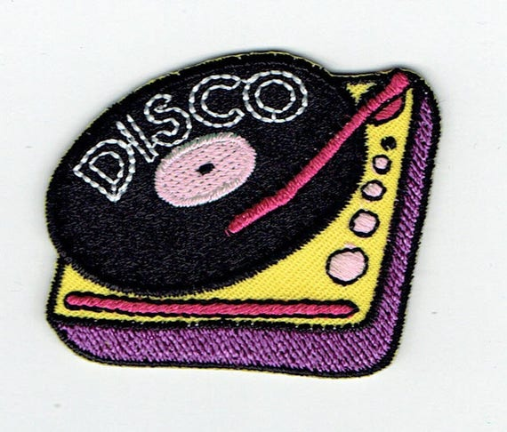 "Patch fusible trend pattern ""disco"""