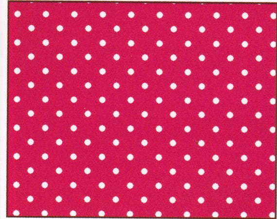 Polka dot cotton, red, coupon 50 x 48 cm