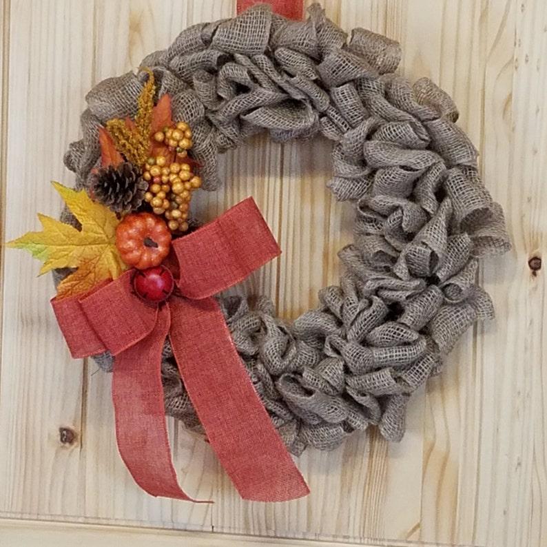 Autumn Wreath Harvest Wreath Fall Wreath Burlap Wreath