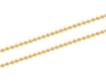 Chain chain ball mesh - gold-plated (1m)