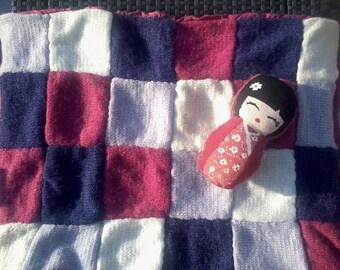 Plaid, little baby blanket