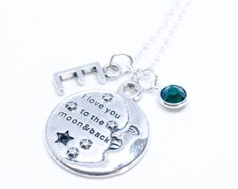 Personalized Necklace Custom Necklace Anniversary Necklace Gift For Her Personalized Jewelry Initial Necklace Birthstone