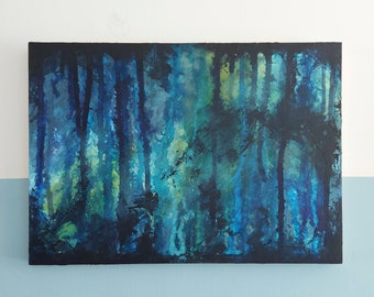 Abstract Art Original Acrylic Mixed Media Painting On Cradled Wooden Panel    A3 / 11.7in x 16.5in / 29.7cm x 42cm