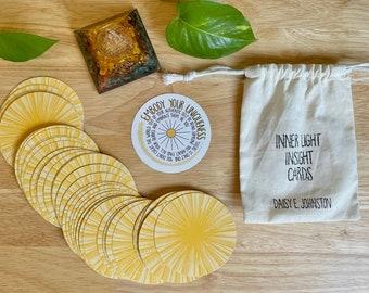 Inner Light Insight Cards Oracle Deck, Mantra Meditation Affirmation Deck
