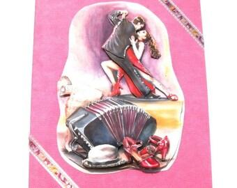 Tango card | Etsy