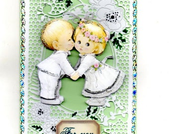 352 - Loving couple Valentine greeting card