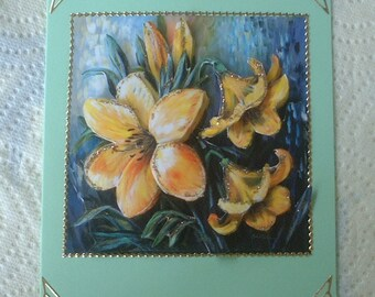 12 - 3d yellow flower greeting card
