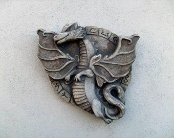 outdoor safe! concrete greenman wall sculpture Wilbur the wonderful