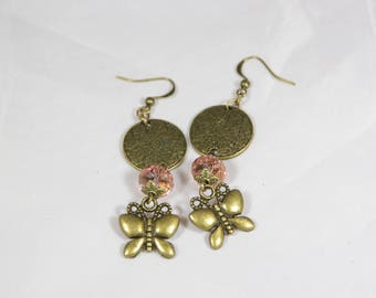 Beautiful earring 65 mm Crystal beads