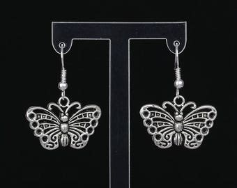 Beautiful pair of silver Butterfly earring