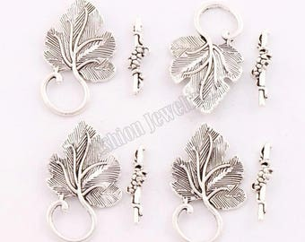 Toggle clasp in silver sold individually, 21 * 30 mm