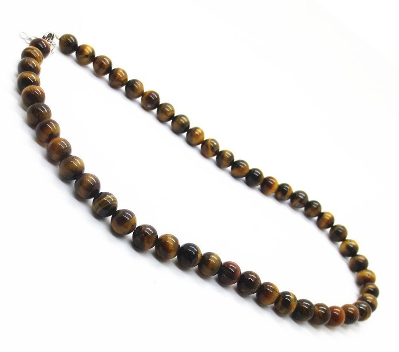 Necklace 55 cm natural Tiger eye stone