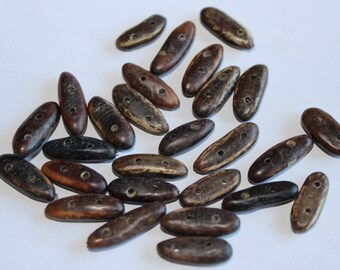 Natural pearls: wild seeds, set of 10