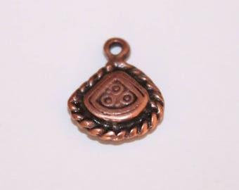 Copper charm, 14 * 11 mm