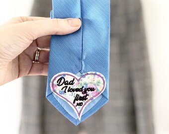 Tie Patch, Father of the bride, father of the bride gift, wedding tie patch, embroidered tie patch, tie patch, wedding gift