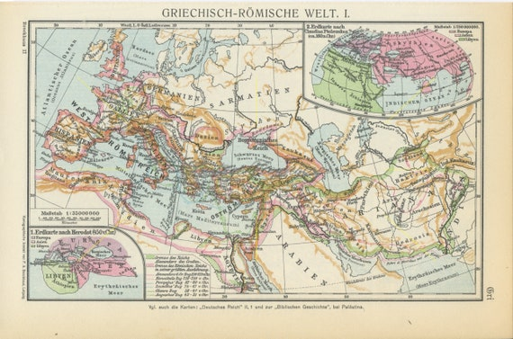 Vintage greco roman world map ancient greece ancient rome gumiabroncs Images