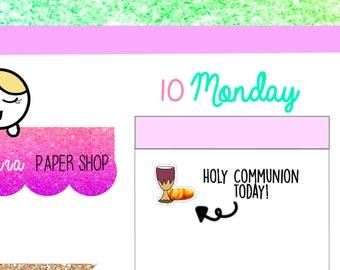 Holy Communion Sticker|Church Sticker |Bible study sticker|planner sticker |Sunday school sticker|Simply Laura| | Devotional sticker sale