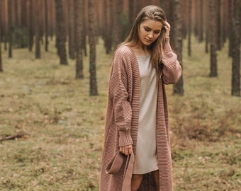 Long knit cardigan STYLE Rustic
