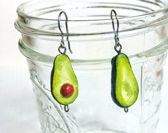 Avocado Dangle Earrings for Sensitive Ears