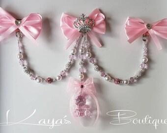Baby Girl Pink Diamante China Shoes Baby Shower Christening Pram Charm Gift