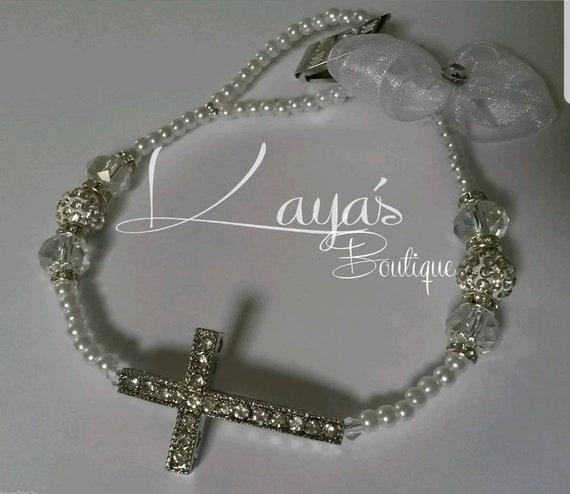 Silver Shamballa Tiara Luxury Romany Personalised Crystal Bling Baby dummy clip