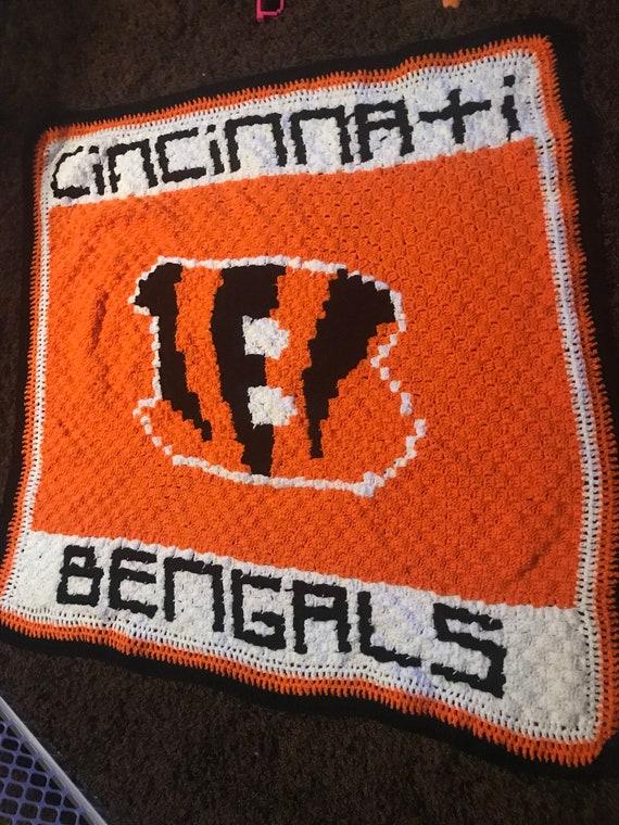 Crochet Cincinnati Bengals Graphgan Chartfootballsportscrochetfootball blanketpatterns