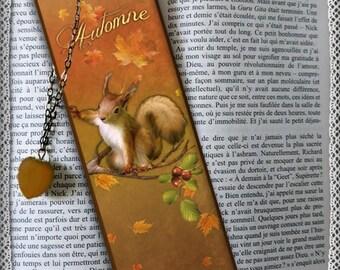 """Plasticized bookmark """"Douroux the Squirrel"""""""