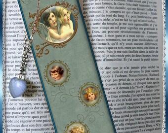 """Bookmarks laminated """"Cherubs"""", bookmark, gift"""
