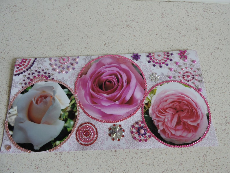 titled All dressed roses Very large card any occasion