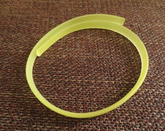 For making bracelet - lime green silicone band matte