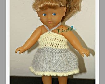 Yellow and gray dress tied in the neck for Corolline