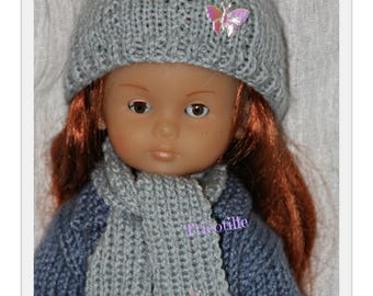 For the girls gray hat and scarf set