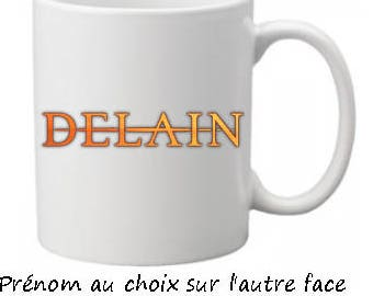 Mug DELAIN personalized with name choice